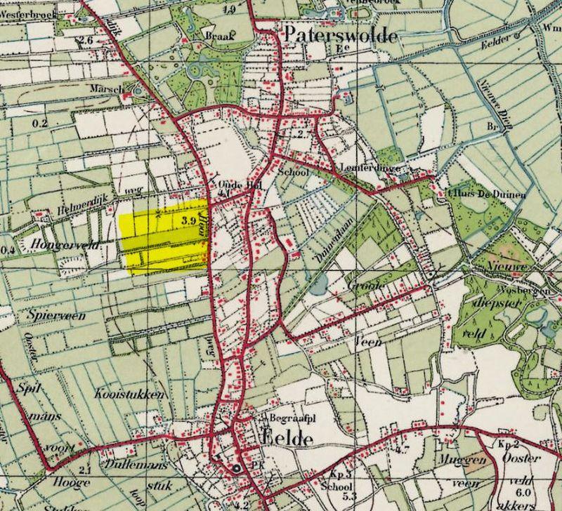 Locatie Bloemenbuurt in het dorp