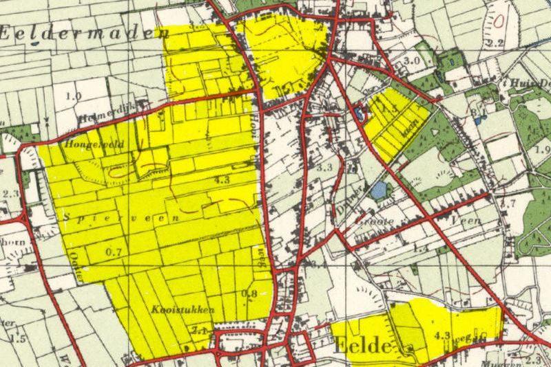 De nieuwe wijken in het dorp met uitzondering van de wijk Ter Borch