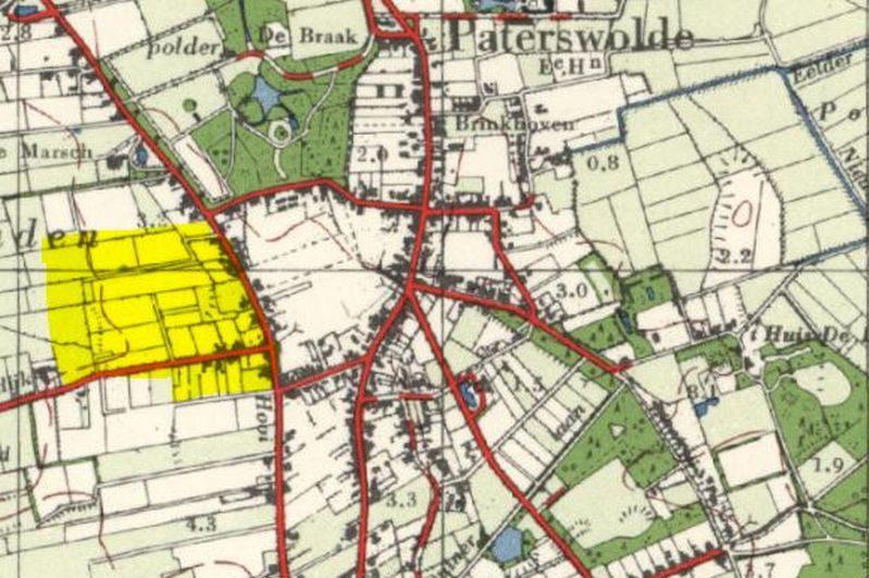 Locatie Vogelbuurt in het dorp