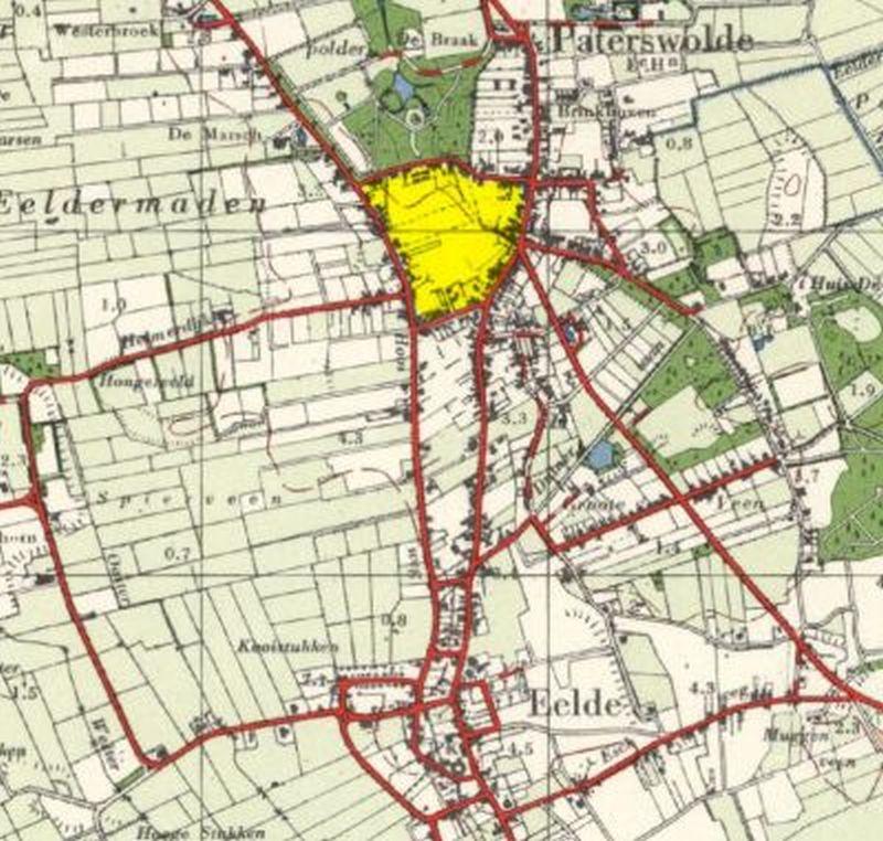 Locatie Nieuwe Akkers in het dorp