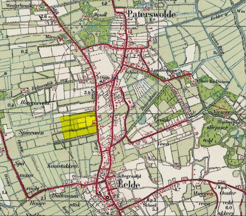 Locatie Schilderbuurt in het dorp